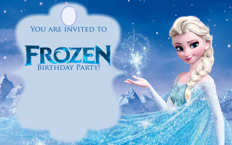Persnickety image within frozen invite printable