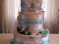 bridal towel cake