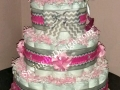 chevron diaper cake