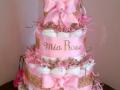 girl leopard diaper cake
