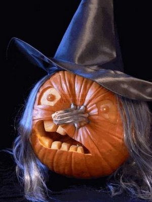 Scary Witch Pumpkin