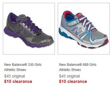 51c172fe7f14e JCPenney  New Balance Girls Sneakers Only  10 Shipped!
