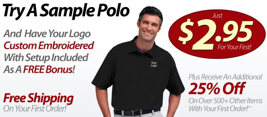 Hot company logo polo shirt only shipped for The queensboro shirt company