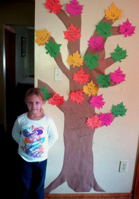 Finished Thankful Tree