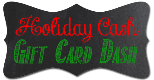 Holiday Cash Gift Card Dash