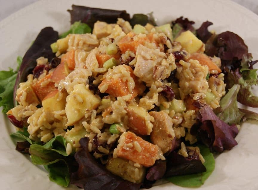 Curried Turkey Salad with Apples, Cranberries and Walnuts - Pinch My ...