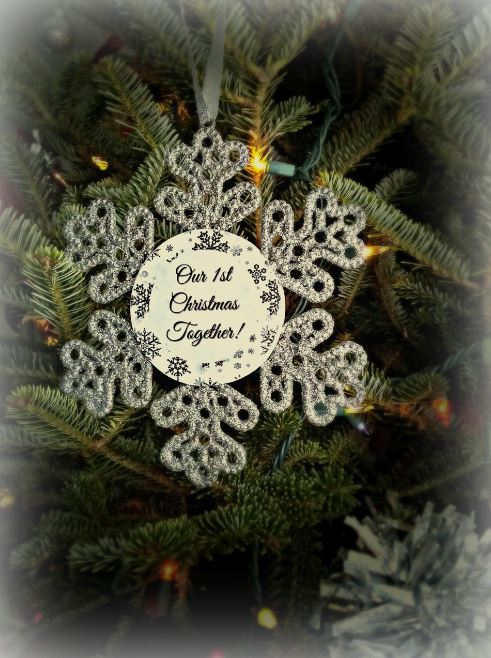 Snowflake ornament back