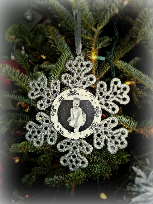 Snowflake ornament front