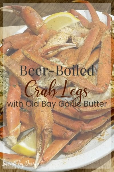 Boiling Crab Legs with Beer –  Easy Crab Legs Recipe Served with Old Bay Garlic Butter