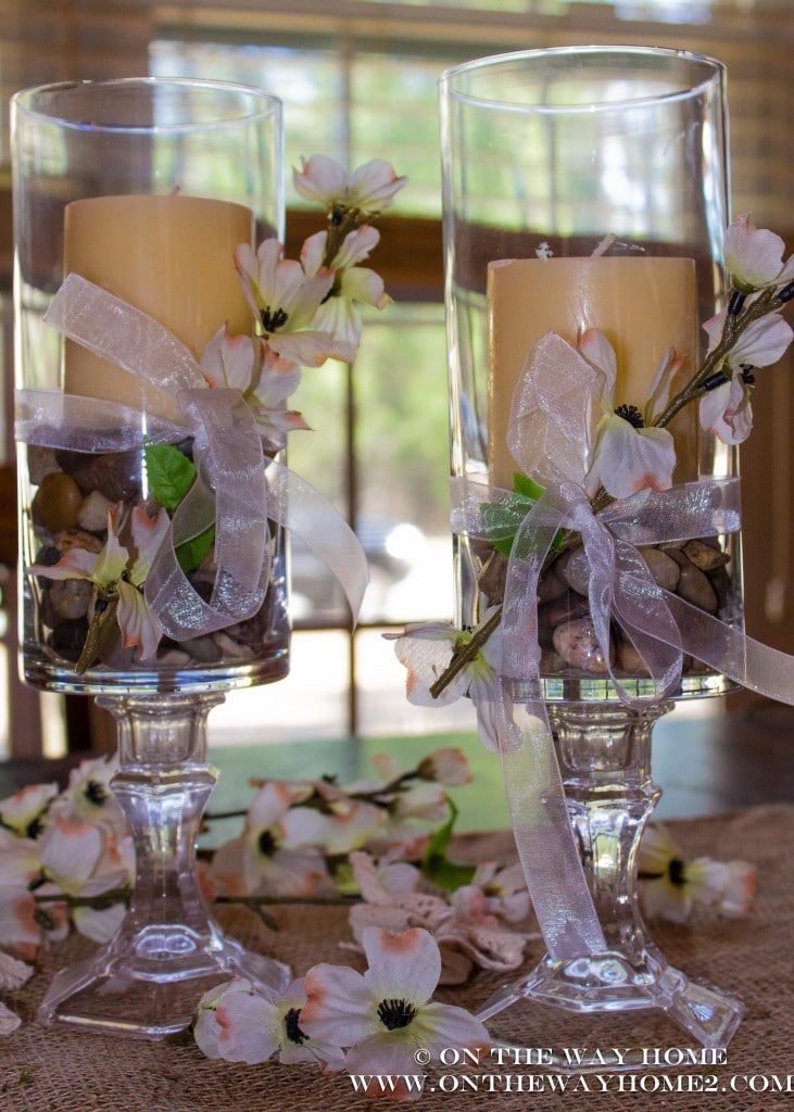 DIY Dollar Store Candle Holders Saving by Design : dollar store candlesticks from savingbydesign.com size 731 x 1024 jpeg 140kB