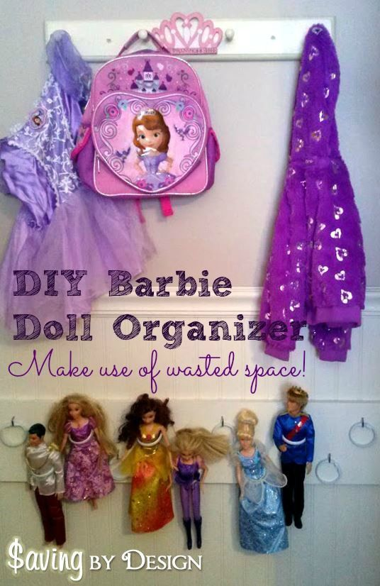 Need somewhere to store all of those Barbie or princess dolls? Youu0027ll love & DIY Barbie Doll Organizer - Cheap u0026 Easy! | Saving by Design