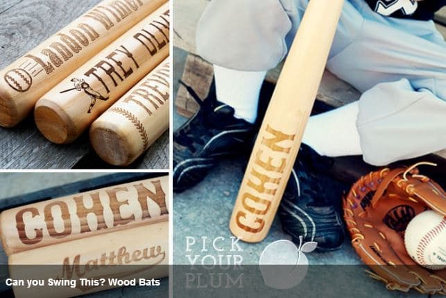 Pick Your Plum Kids Personalized Wooden Baseball Bats Only 1499