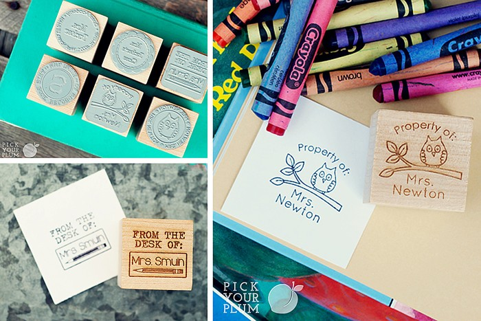 adorable personalized teacher stamps only 9 99 saving by design