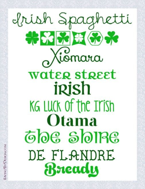 St. Patrick's Day free fonts
