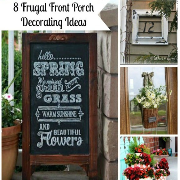 Thrifty Blogs On Home Decor: 8 Frugal Front Porch Decorating Ideas