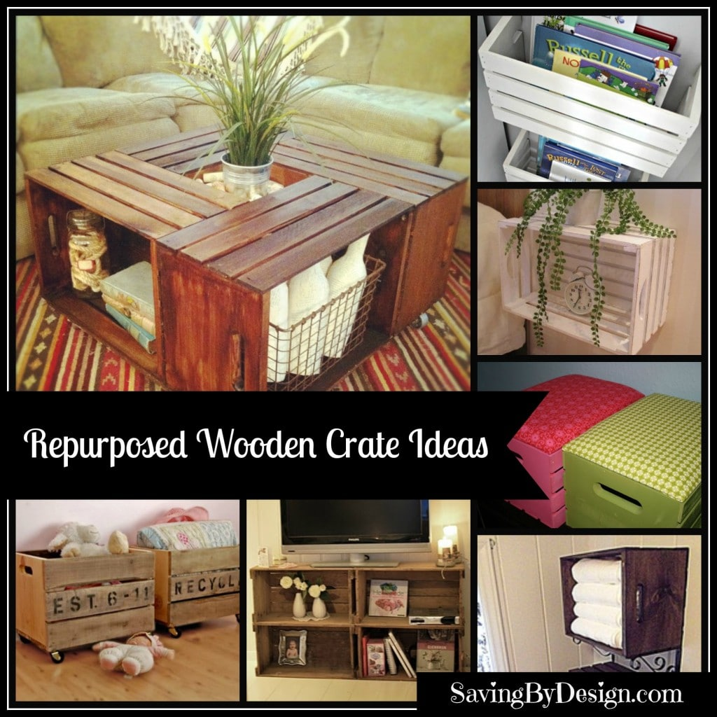 10 unique wooden crate ideas saving by design for Diy wooden crate ideas