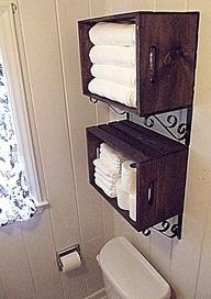 Bathroom Wall Decor Over Towel Rack Storage Ideas