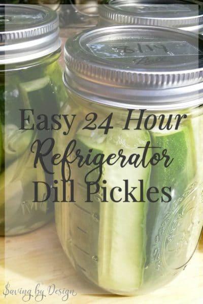 dill pickle recipe - refrigerator dill pickles