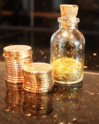 gold coins and fairy dust