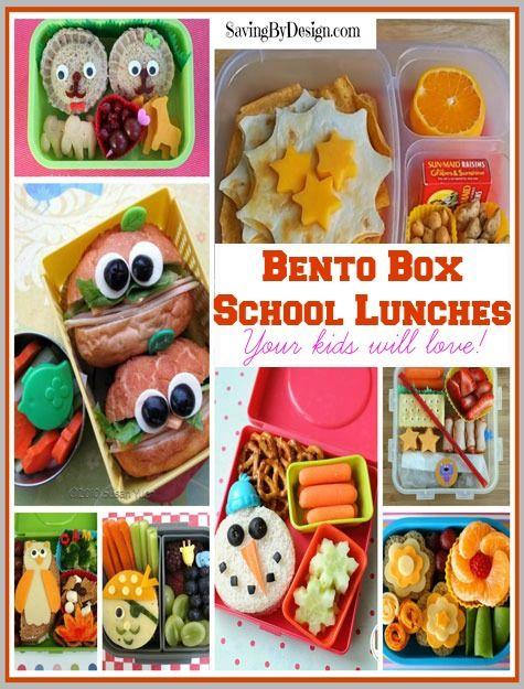 back to school bento box lunches saving by design. Black Bedroom Furniture Sets. Home Design Ideas