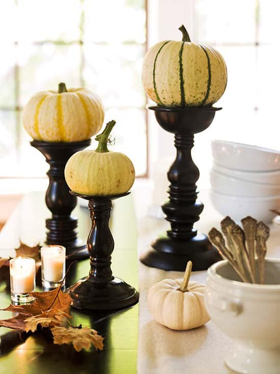 gourd candles holders