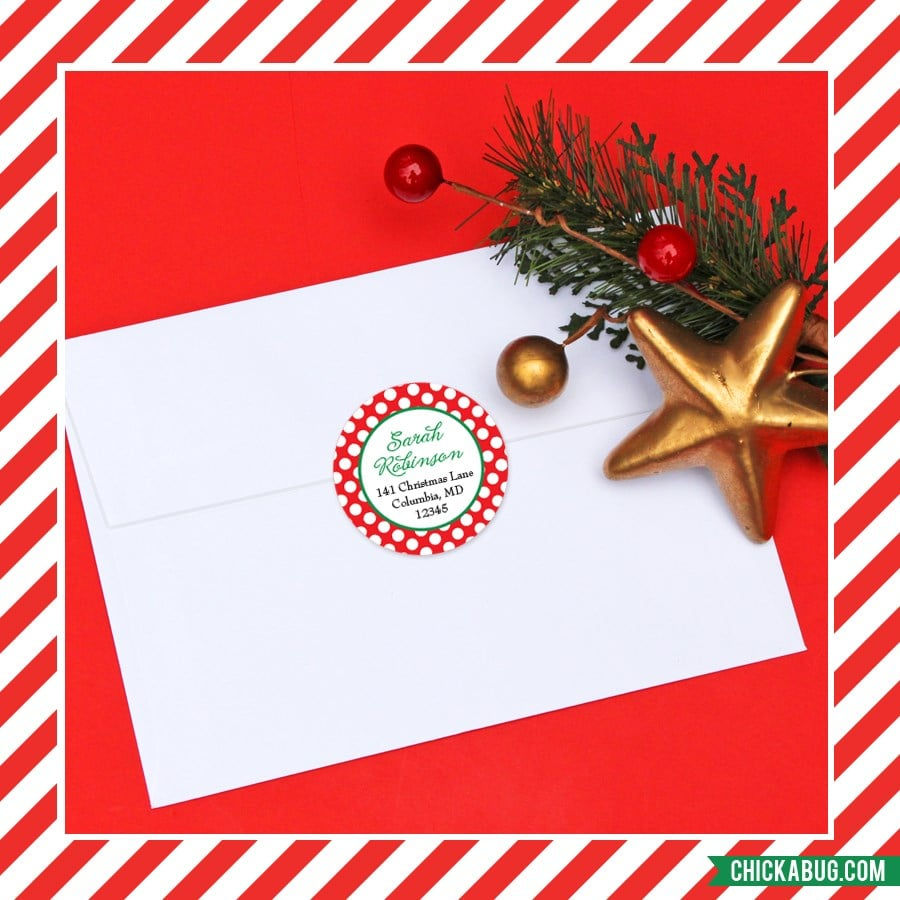 Personalized Christmas Address Labels for $5.95