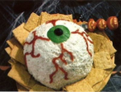 If you're looking to create a table full of super scary Halloween appetizers for your upcoming party, this will definitely get you started!
