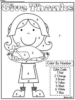 math worksheet : preschool color code  florabac  : Kindergarten Thanksgiving Math Worksheets