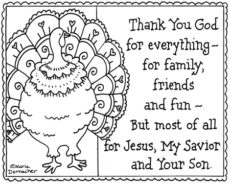free christian thanksgiving coloring pages - photo#1