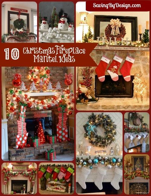 Christmas Fireplace Mantel Ideas