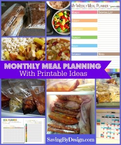 meal planning free printables