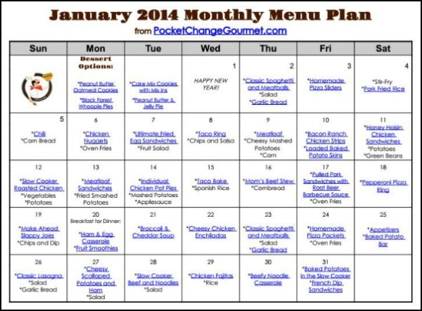 Meal Planning Free Printables and Organization Ideas to Help You Get ...