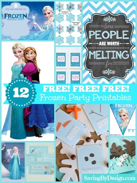 I looked and found these 12 FREE Frozen Party Printables that will be sure to make any Frozen lover happy with their party. From invites, to food labels, pennants along with signs, you'll find everything you'll need from these ideas!
