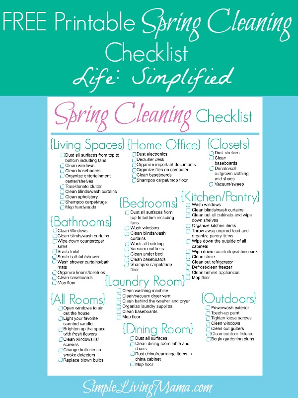 10 free spring cleaning printables   saving by design