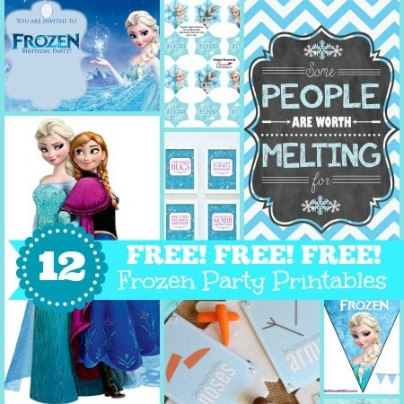 12 FREE Frozen Party Printables Invites Decorations and More