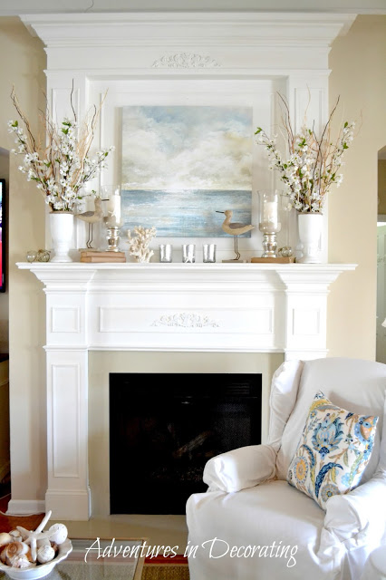 10 Fabulous Fireplace Mantel Ideas for Summer | Saving by Design