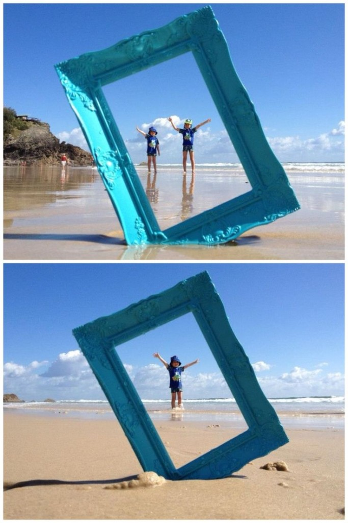 giant frame beach photo