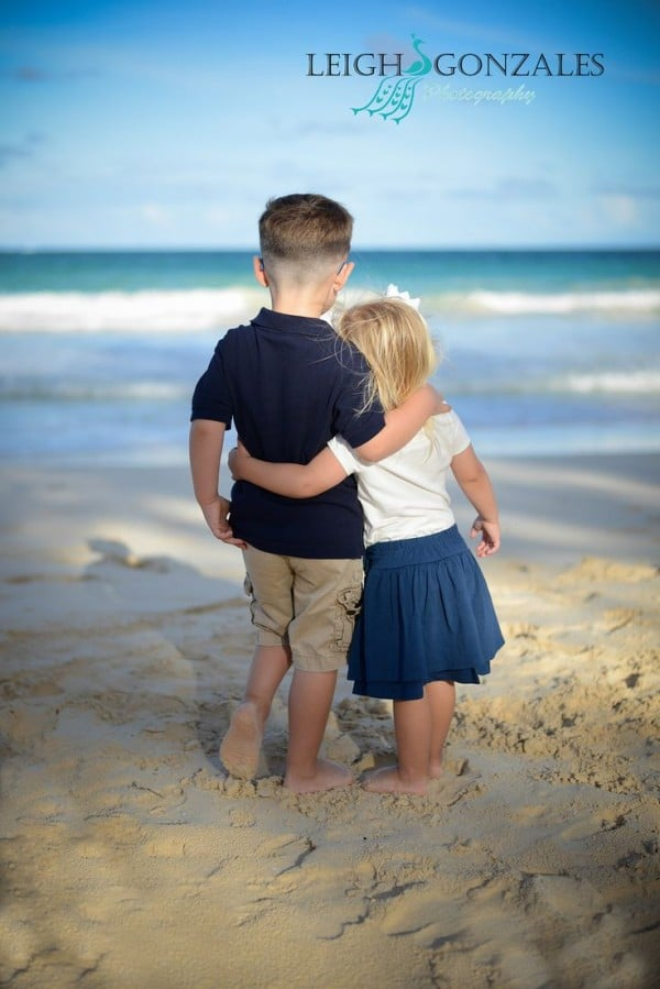 kids beach photo