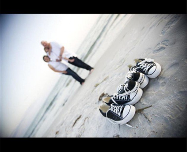 matching shoes beach photo