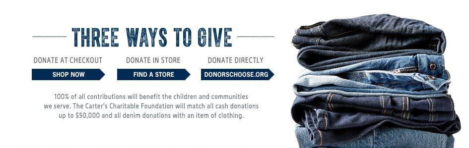 B'gosh Jeanius Campaign - Ways to Donate