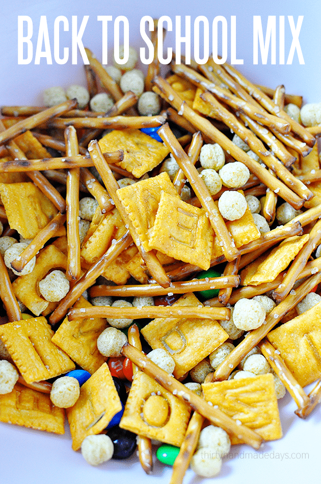 after school snacks - back to school trail mix