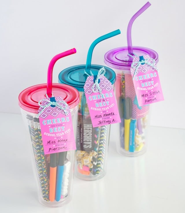teacher gift - goodies and supplies tumbler