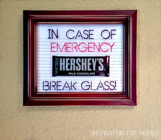 teacher gift - in case of emergency frame