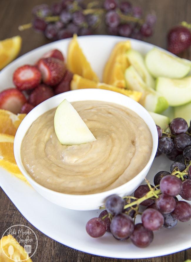 after school snacks - peanut butter yogurt dip