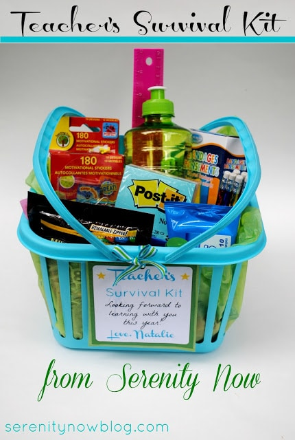 teacher gift - teacher survival kit