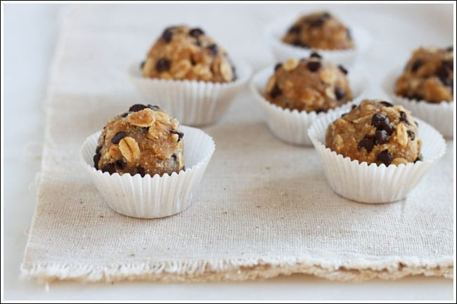 after school snacks - oatmeal and cookie dough bites