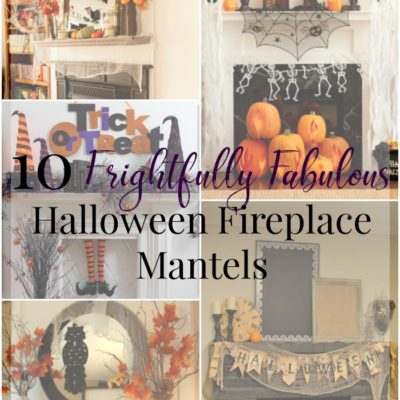 10 Frightfully Fabulous Halloween Fireplace Mantels