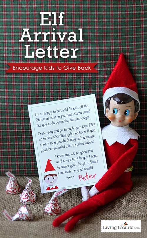 Elf on the Shelf ideas for arrival - letters from elf on the shelf printable