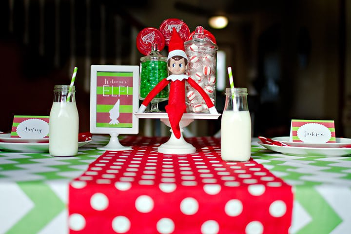 Elf on the Shelf ideas for arrival - breakfast