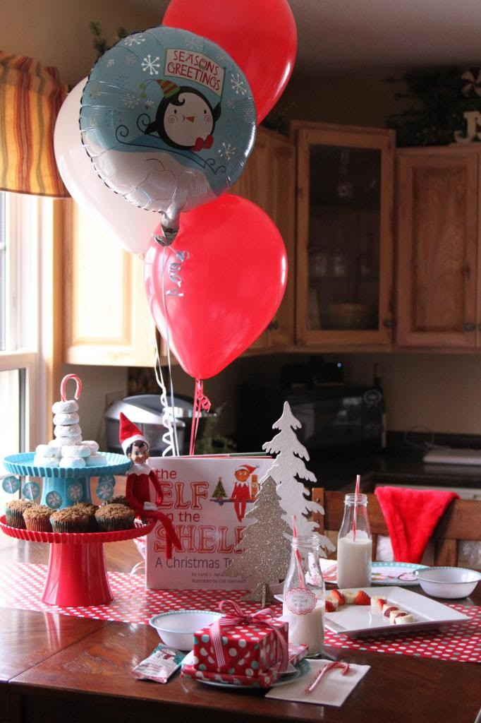 Elf on the Shelf ideas for arrival - North Pole breakfast